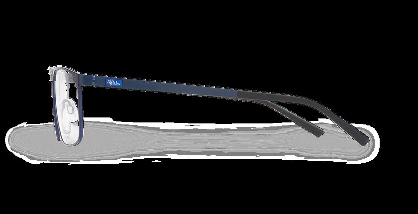 Lunettes de vue homme ALPHA18 bleu - Vue de côté
