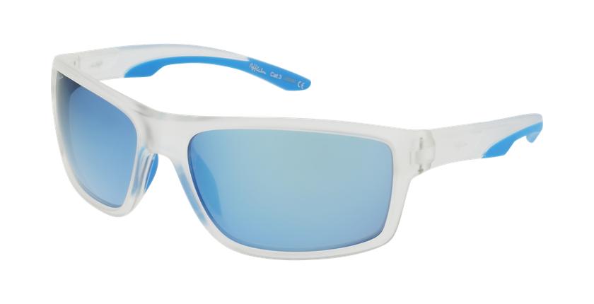 Lunettes de soleil homme IGOR POLARIZED blanc/bleu - vue de 3/4