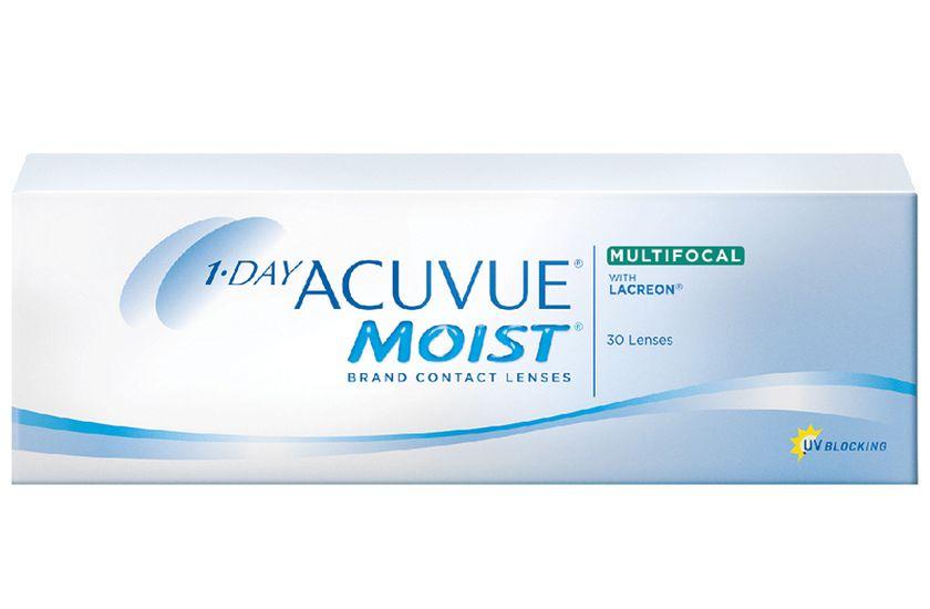 Lentilles de contact 1 Day Acuvue® Moist® Multifocal 30L - Vue de face ... 7739ffdae545