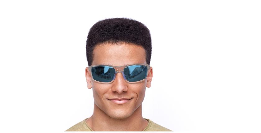 Lunettes de soleil homme IGOR POLARIZED blanc/bleu - Vue de face