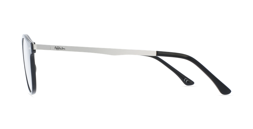 Lunettes de vue femme MAGIC 97 noir/argenté - Vue de côté