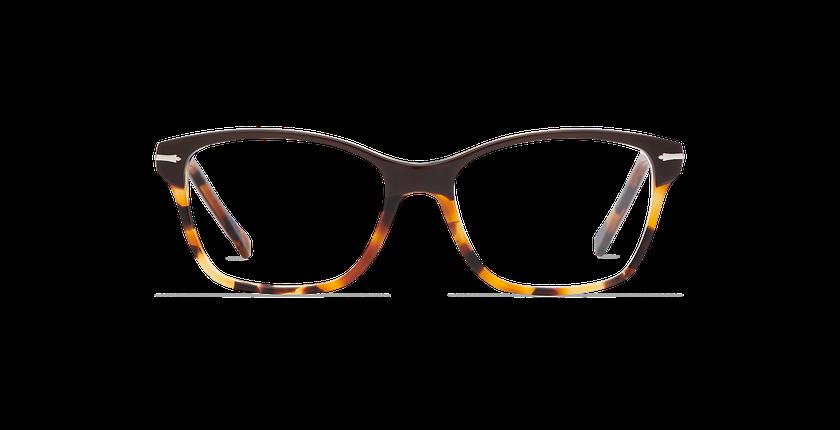 Lunettes de vue femme LADOYE marron/écaille - Vue de face