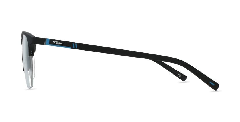 Lunettes de vue homme TRISTAN noir/turquoise - Vue de côté