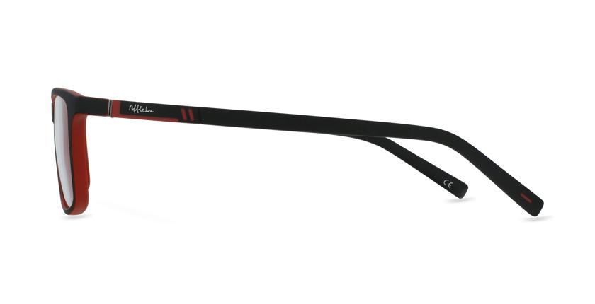 Lunettes de vue homme CESAR noir/rouge - Vue de côté