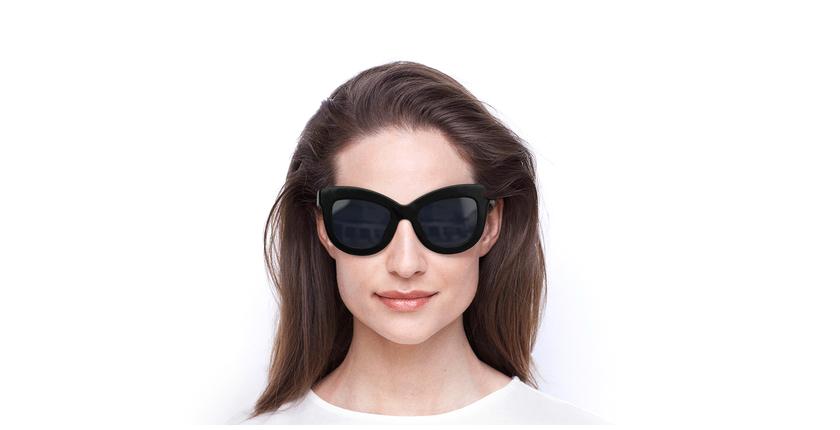Lunettes de soleil femme MADCAT noir - Vue de face