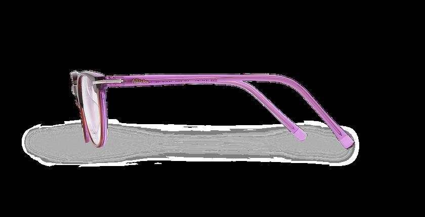 Lunettes de vue femme NANTUA écaille/violet - Vue de côté