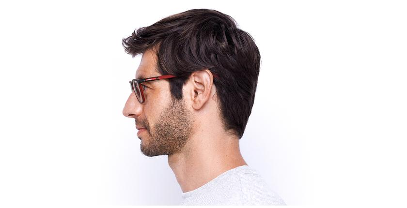Lunettes de vue homme MALO noir/rouge - Vue de côté