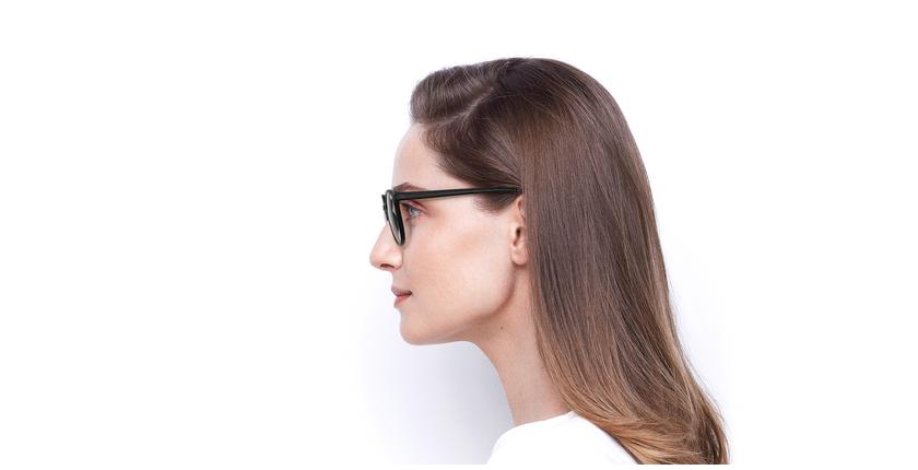 Lunettes de vue femme RZERO5 noir - Vue de côté
