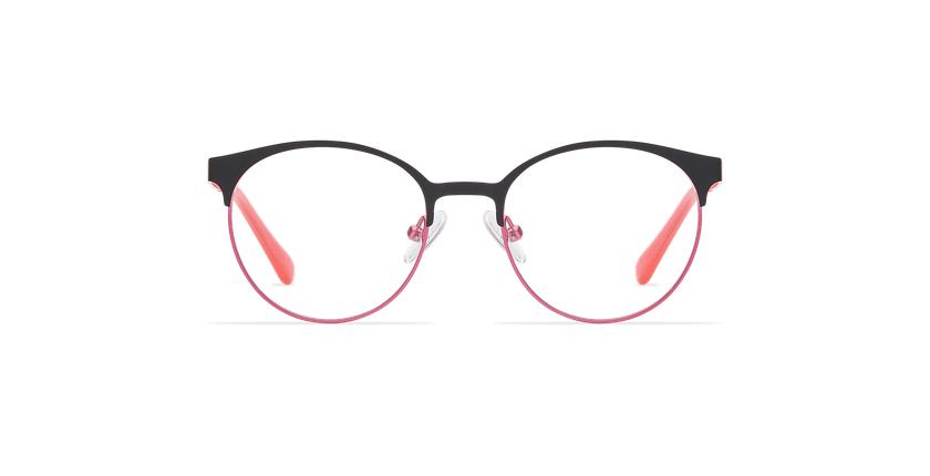 Lunettes de vue enfant AYLA noir/rose - Vue de face