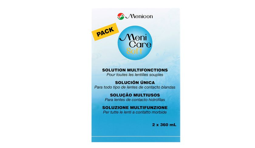 Menicare Soft 2x360ml - Vue de face