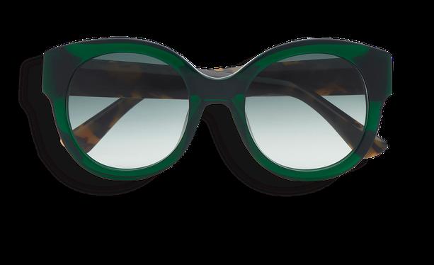 Lunettes de soleil femme CINDY vert/écaille - danio.store.product.image_view_face