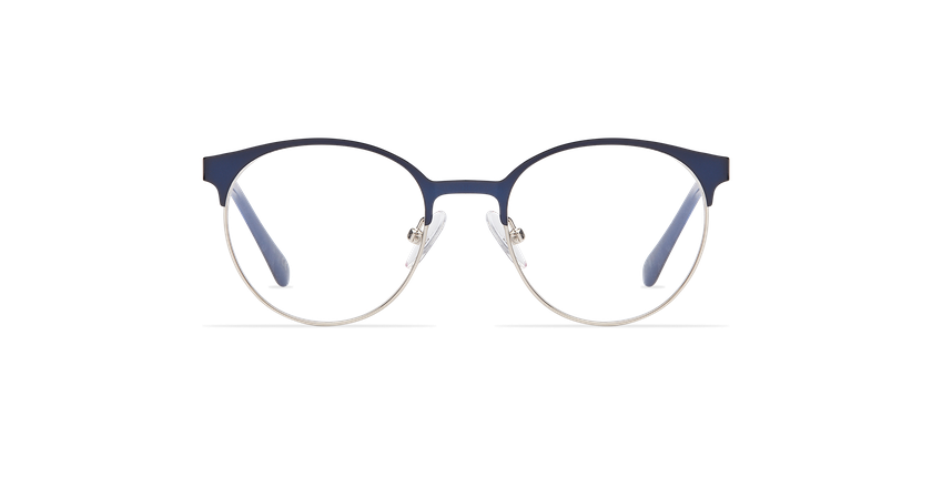 Lunettes de vue enfant AYLA bleu/argenté - Vue de face