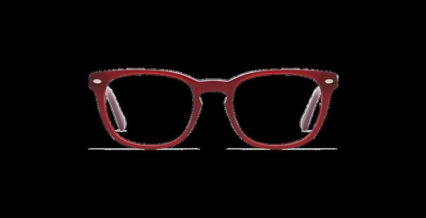 Lunettes de vue homme LUCAS rouge - Vue de face