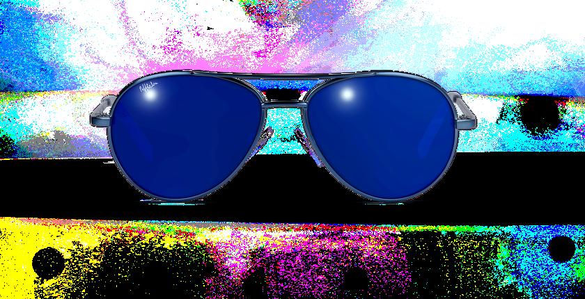 Lunettes de soleil enfant PLAYA bleu - Vue de face