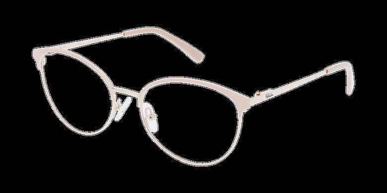 Lunettes de vue femme FAUSTINE rose/doré
