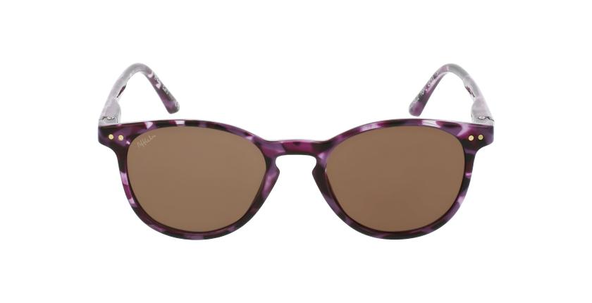 Lunettes de soleil enfant FELIZ écaille/violet - Vue de face