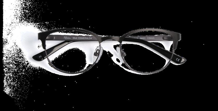 Lunettes de vue femme ESMERALDA noir - Vue de face