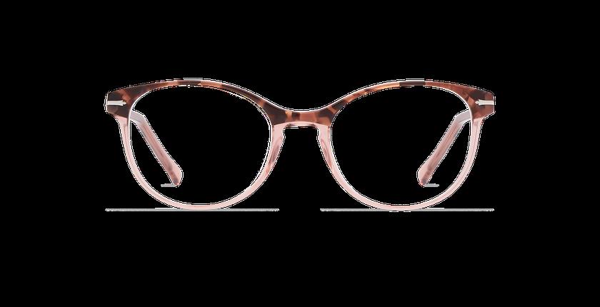 Lunettes de vue femme BELLEFONTAINE écaille/rose - Vue de face