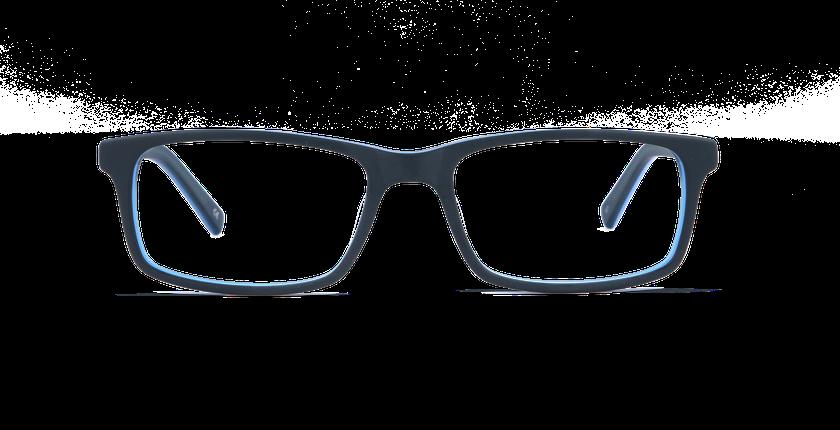 Lunettes de vue homme LEON bleu - Vue de face