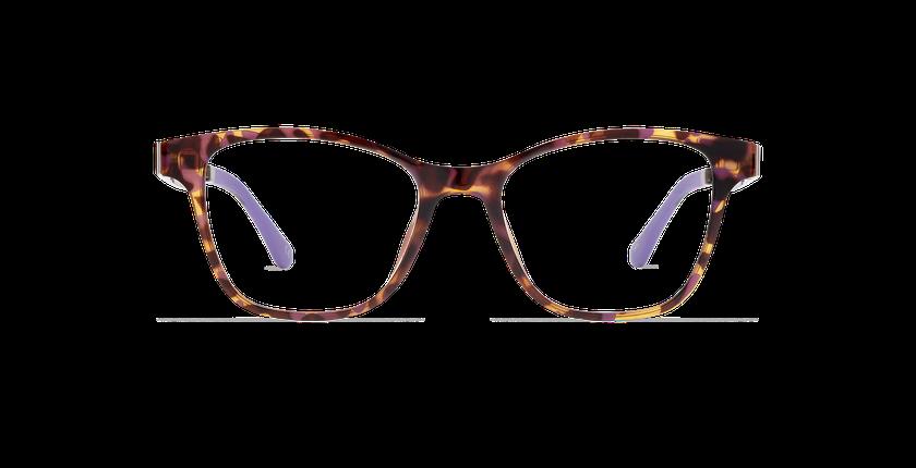 Lunettes de vue femme SMART TONIC 17 écaille/écaille violet - Vue de face