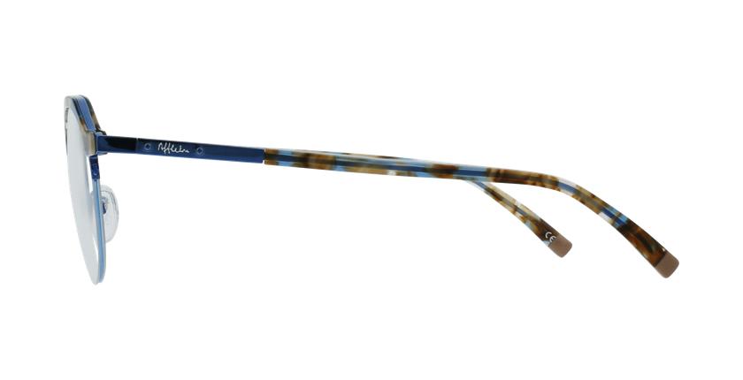 Lunettes de vue OFFENBACH écaille/bleu - Vue de côté