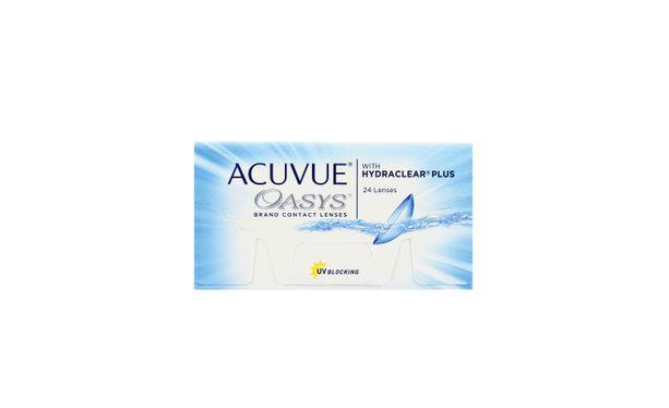 Lentilles de contact Acuvue Oasys with Hydraclear Plus 24L - Vue de face