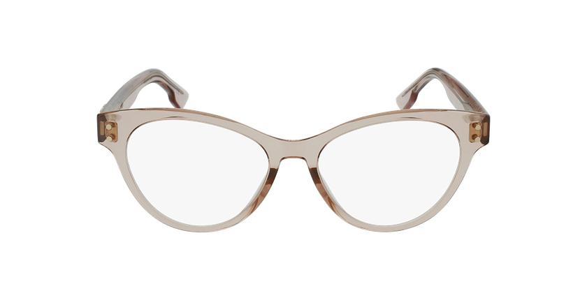 Lunettes de vue femme CD4 beige - Vue de face