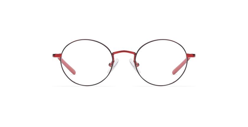 Lunettes de vue enfant LOIS rouge/noir - Vue de face