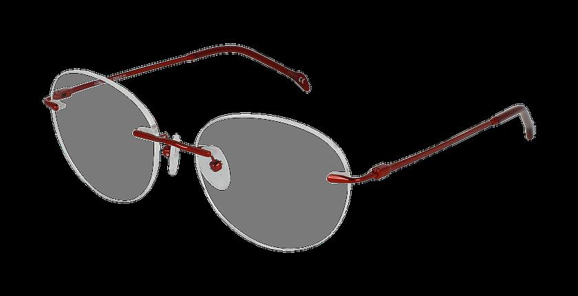 Lunettes de vue femme IDEALE-14 rouge - vue de 3/4