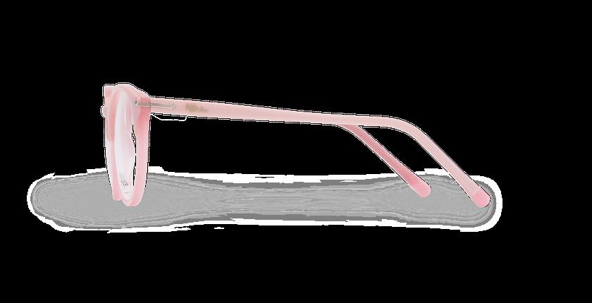 Lunettes de vue femme OYONNAX rose - Vue de côté