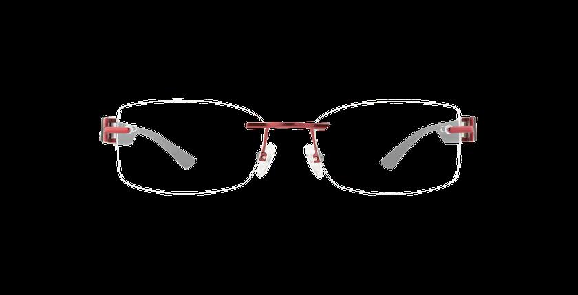 Lunettes de vue femme MIX TONIC 09 rouge - Vue de face