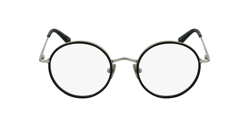 Lunettes de vue CHOPIN argenté/noir - Vue de face