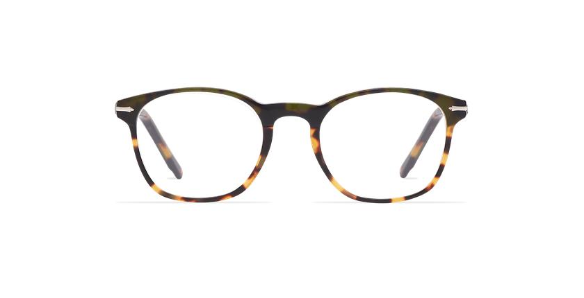 Lunettes de vue homme LONGCHAUMOIS vert/écaille - Vue de face