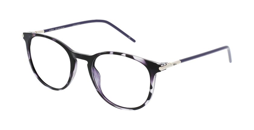 Lunettes de vue femme MAGIC 86 écaille/violet - vue de 3/4