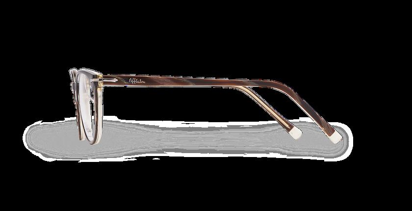 Lunettes de vue femme NANTUA noir/marron - Vue de côté