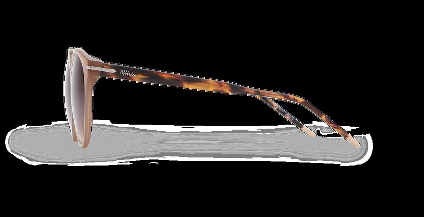 Lunettes de soleil femme STACY marron - Vue de côté