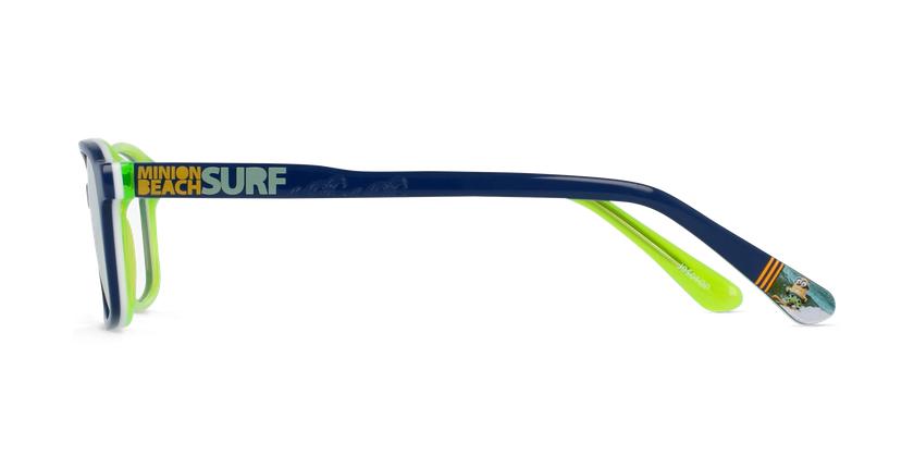Lunettes de vue enfant SURF bleu/vert - Vue de côté
