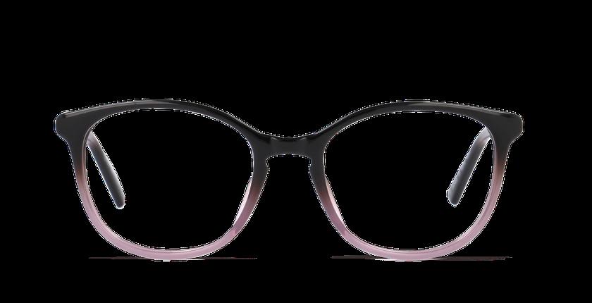 Lunettes de vue femme PAULINE marron - Vue de face