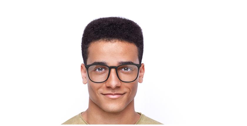 Lunettes de vue homme LOEVAN marron/bleu - Vue de face