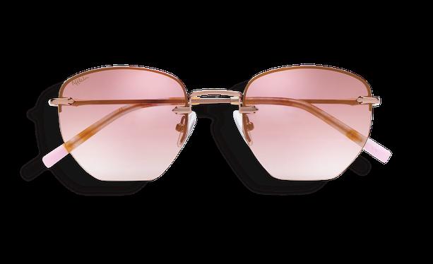 Lunettes de soleil femme JENNA doré/rose - danio.store.product.image_view_face
