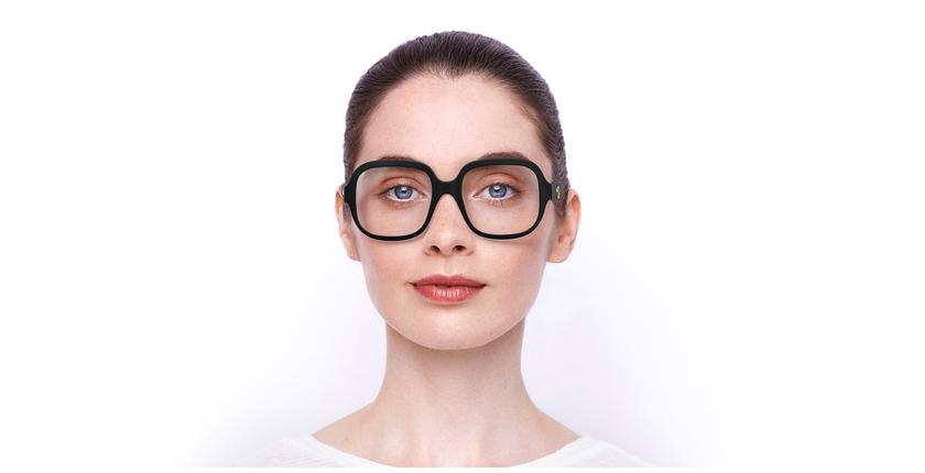 Lunettes de vue femme GG0799O noir - Vue de face