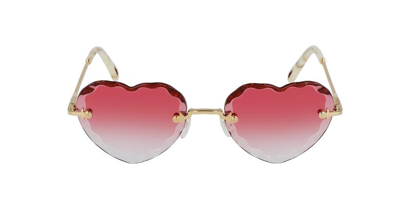 Lunettes de soleil femme CE150S doré/rose - Vue de face