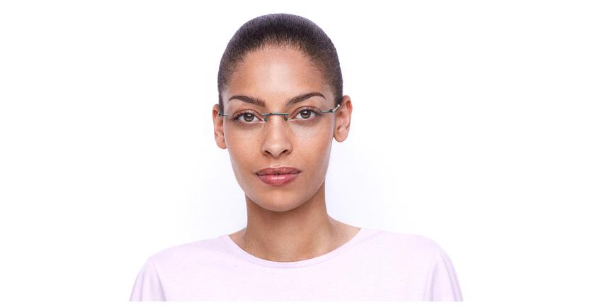 Lunettes de vue femme IDEALE-26 vert - Vue de face