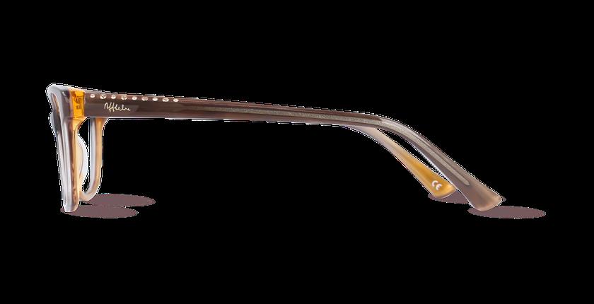 Lunettes de vue femme ONYX marron - Vue de côté