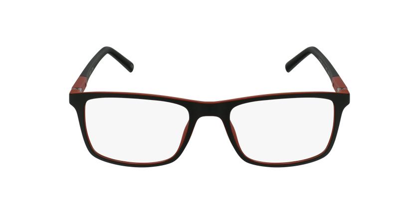 Lunettes de vue homme CESAR noir/rouge - Vue de face