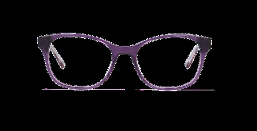 Lunettes de vue femme ZELIA violet - Vue de face