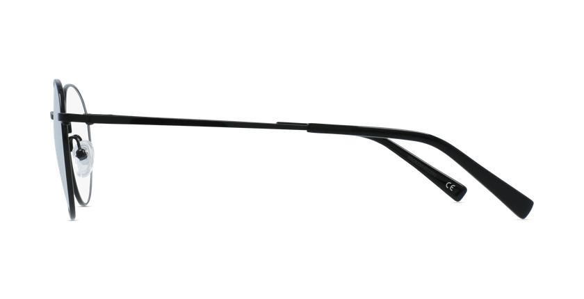 Lunettes de vue femme RZERO8 noir - Vue de côté