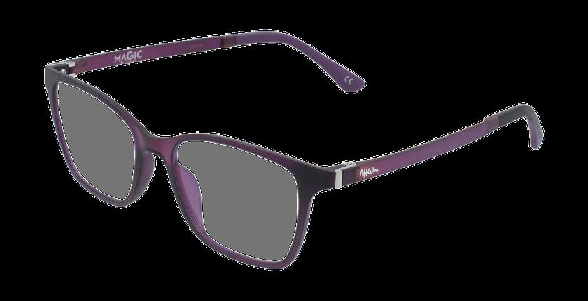Lunettes de vue femme MAGIC 60 BLUEBLOCK violet - vue de 3/4