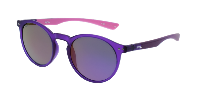 Lunettes de soleil femme KESSY POLARIZED violet/rose - vue de 3/4