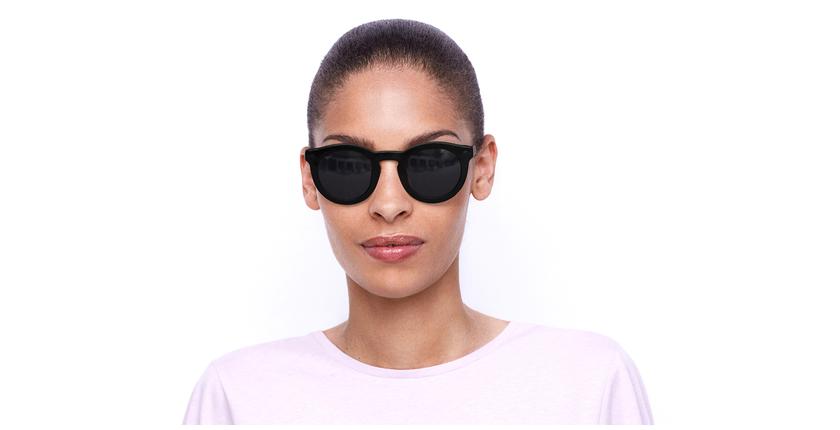Lunettes de soleil femme ANNE noir/écaille - Vue de face